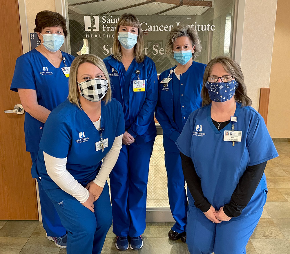 The Saint Francis Cancer Institute Support Services Team