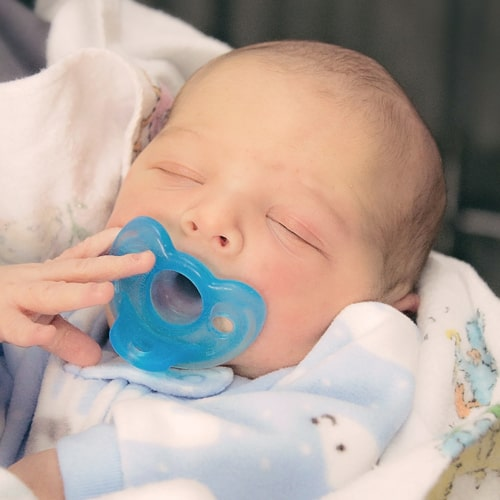 The first baby born at Saint Francis in 2014