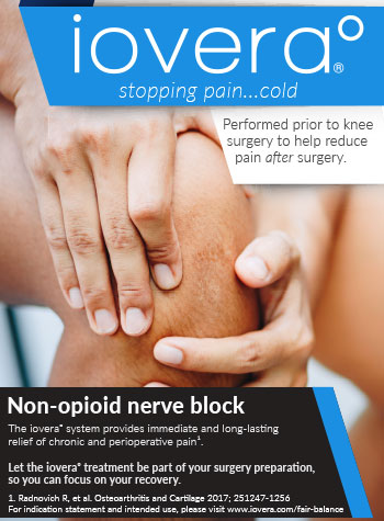 Iovera - stopping pain cold. Performed prior to knee surgery to help reduce pain after surgery.