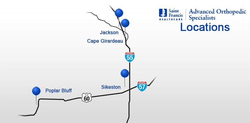 Locations - Cape Girardeau, Jackson, Poplar Bluff, and Sikeston