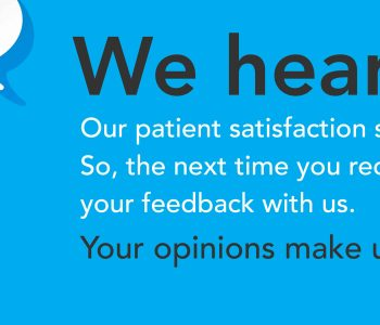 Our patient satisfaction surveys are now shorter!