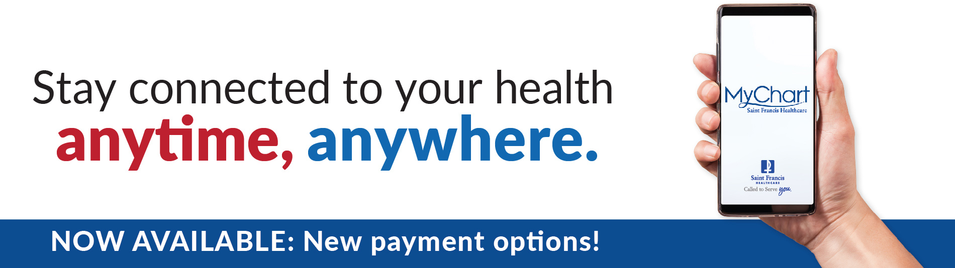 MyChart - Stay connected to your health...anytime, anywhere! New payment options available!