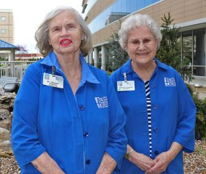 BJ Bowman and Barbara Limbaugh find enjoyment volunteering at Saint Francis Healthcare.