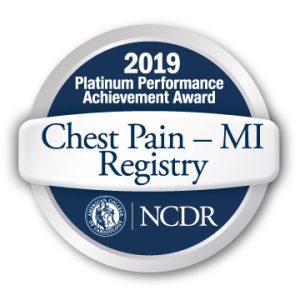 2019 Chest Pain MI Registry Platinum Performance Achievement Award