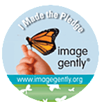 "Image Gently ""I Made the Pledge"" badge - imagegently.org"