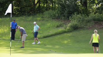 A player putts at the 2019 Friends of Saint Francis Golf Tournament. A total of $155,000 was raised this year for community efforts to feed hungry children in the area.