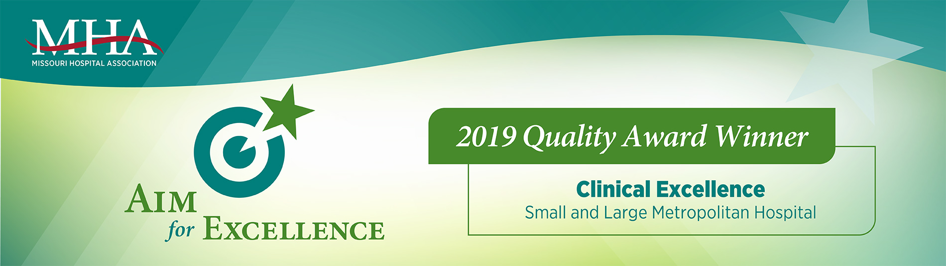 Saint Francis is a Missouri Hospital Association Aim for Excellence 2019 Quality Award Winner in Clinical Excellence for Small and Large Metropolitan Hospitals