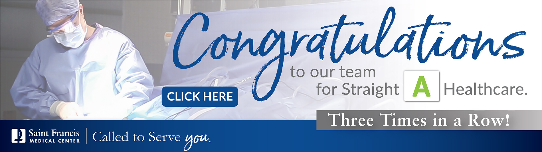 Congratulations to our team for Straight A Healthcare, three times in a row! Click here to learn more.