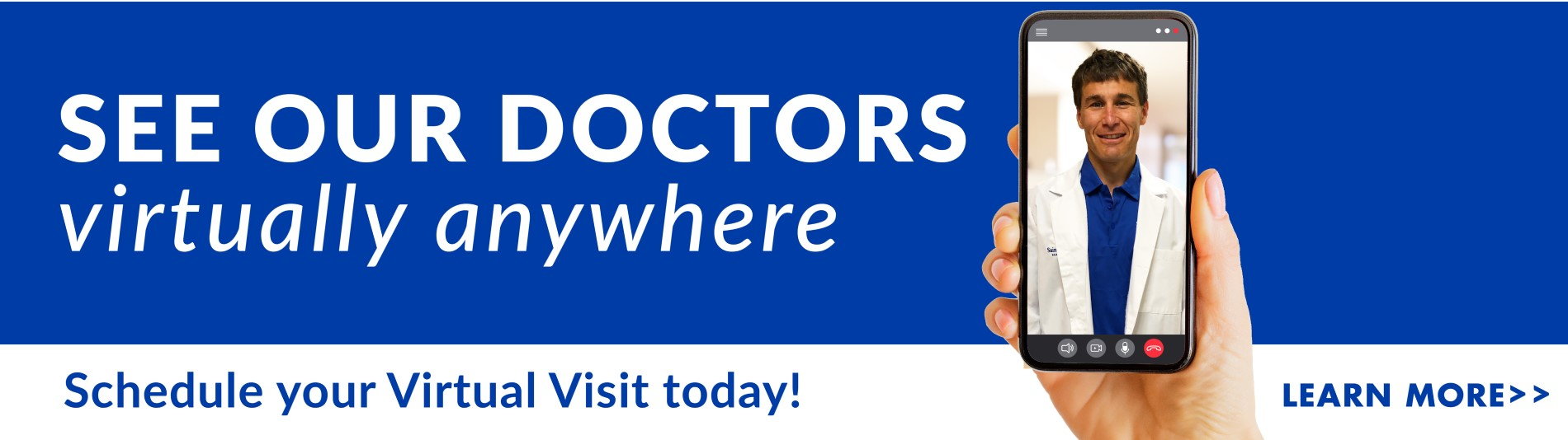 See our doctors, virtually anywhere. Schedule your virtual visit today! Click here