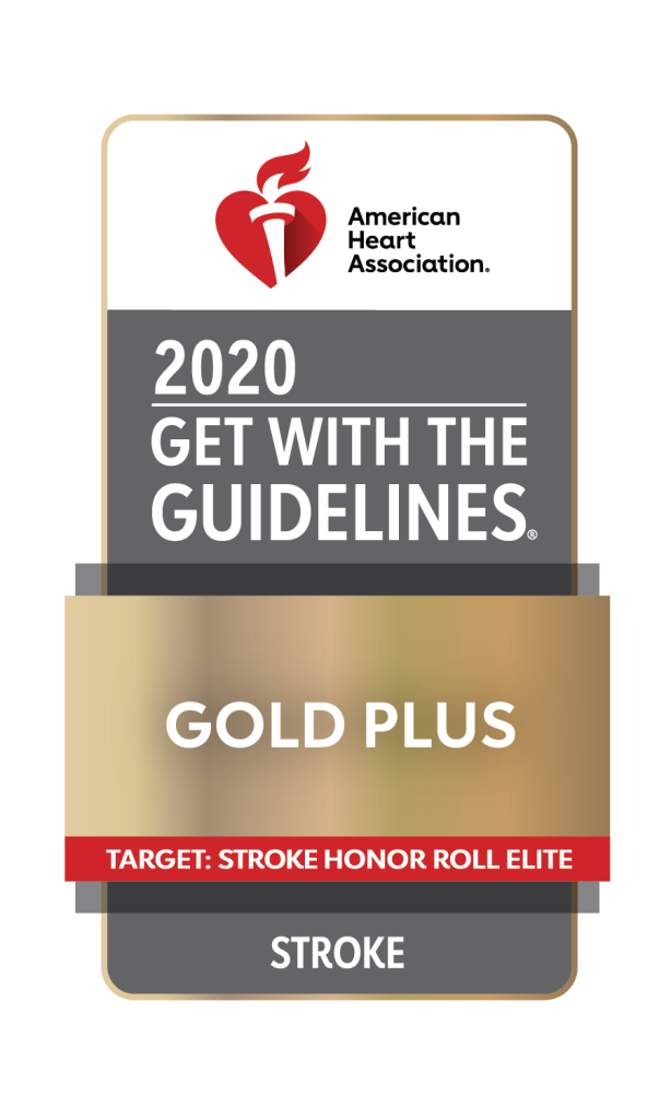 American Heart Association / American Stroke Association Get With The Guidelines - Stroke Gold Plus Quality Achievement Award with Honor Roll Elite