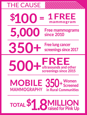 Pink Up infographic