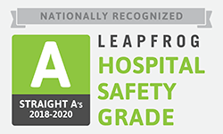 Leapfrog Hospital Safety Grade Straight A's, 2018-2020