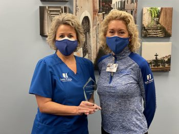 Lisa Newcomer, RRT, MBA, FACHE and Maryann Reese, RN, MHA, DHA, FACHE, President and Chief Executive Officer of Saint Francis Healthcare System