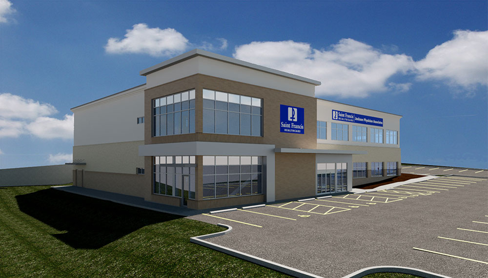 Architect's rendering of the new Jackson Physician Associates building.