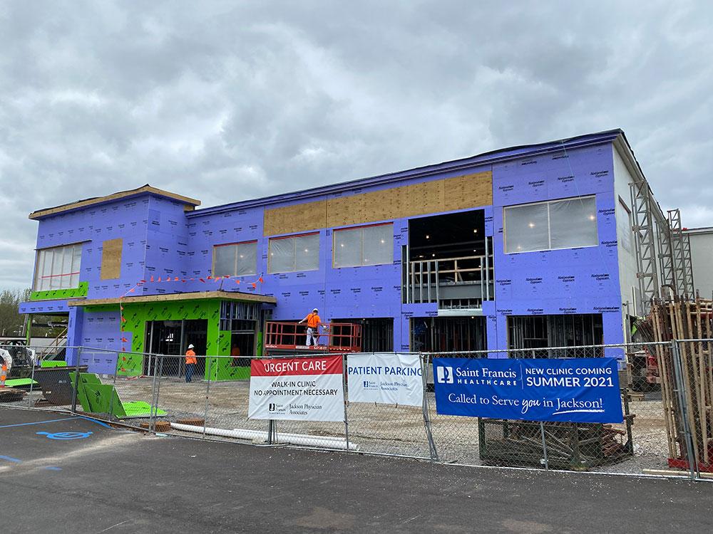 The new Jackson Physician Associates building, under construction.