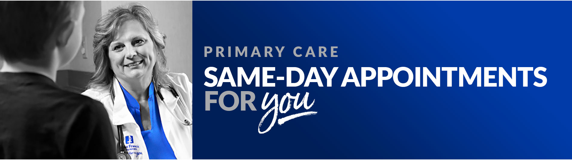 Primary care same day appointments for YOU!
