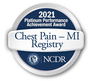 American College of Cardiology 2020 NCDR Chest Pain-MI Registry Platinum Performance Achievement Award