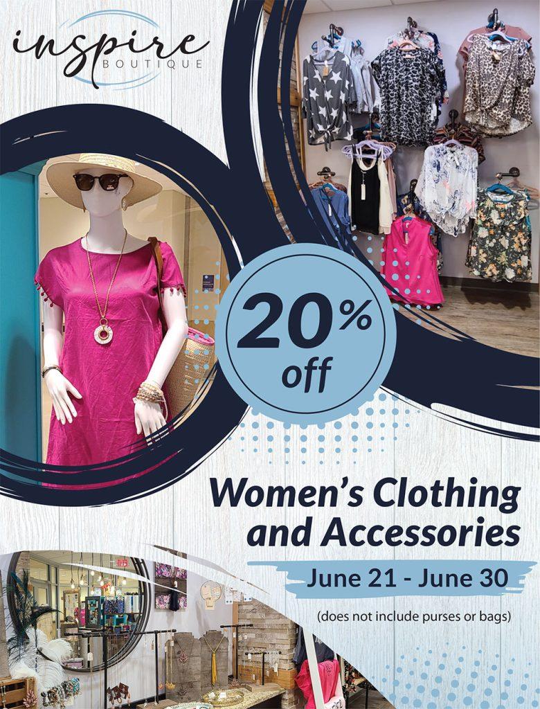 Inspire Boutique - Women's Accessory Sale June 21 - June 30