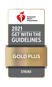2021 American Heart Association and American Stroke Association Get with the Guidelines Stroke Gold Plus Achievement Award
