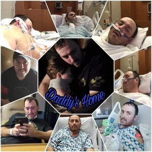 Will Rhodes, in various stages of illness and recovery